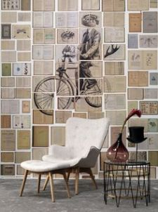 mural livres ouverts