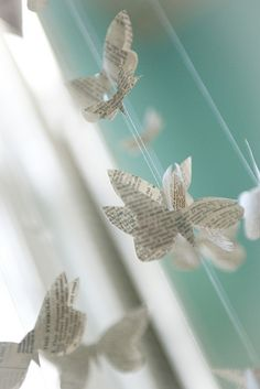 guirlandes papillons papier