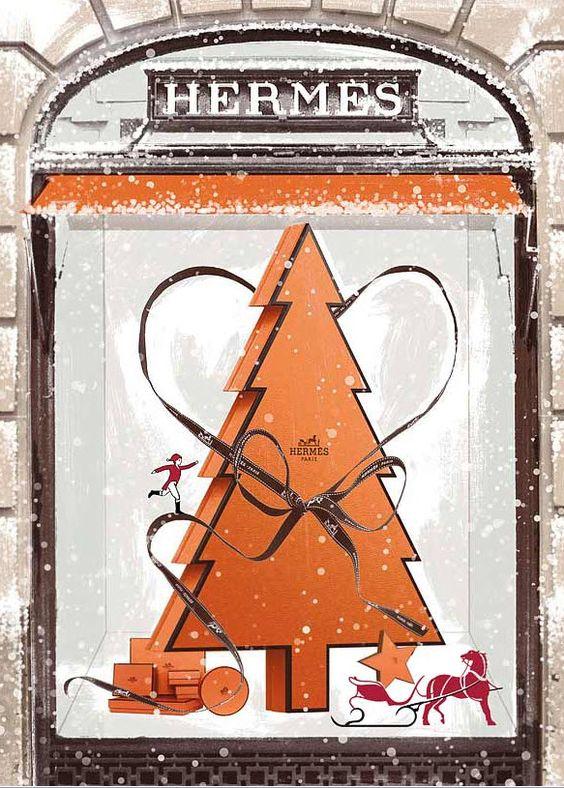 vitrine Hermès Noël