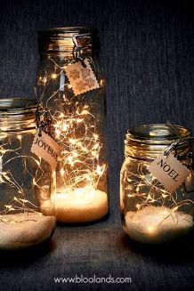 lumières en pot