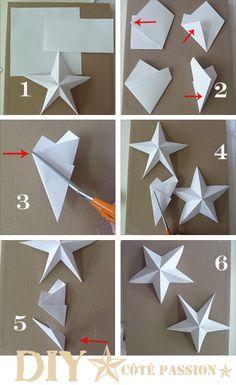 étoiles origami