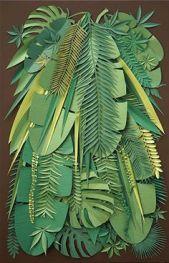 feuilles de palmes papier